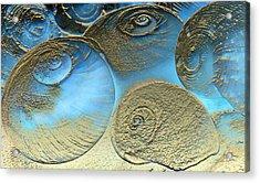 Golden Spirals Acrylic Print by Barbara  White