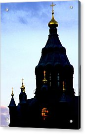 Golden Spires Acrylic Print by Lee Versluis