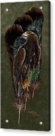 Golden Splendor Acrylic Print by Sandra SanTara