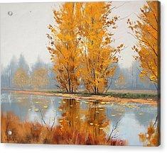 Golden Stillness  Acrylic Print