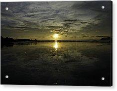 Golden Sunset 7188 Acrylic Print by Sortarivs Arts