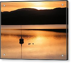 Golden Sunset Acrylic Print by Ronnie Reffin