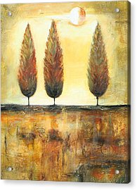 Golden Trees Acrylic Print