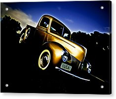 Golden V8 Acrylic Print by Phil 'motography' Clark