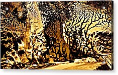 Golden Wonderland Acrylic Print by Gloria Warren