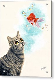 Goldfish Dreams Acrylic Print by Callie Fink