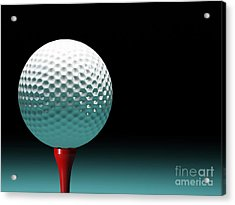 Golf Ball Acrylic Print by Gualtiero Boffi