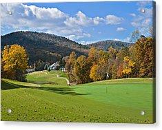 Golf Course In Autumn Acrylic Print