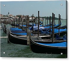 Acrylic Print featuring the photograph Gondolas by Laurel Best