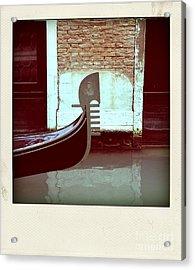 Gondola.venice.italy Acrylic Print by Bernard Jaubert