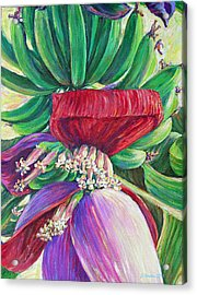 Acrylic Print featuring the painting Gone Bananas by Li Newton