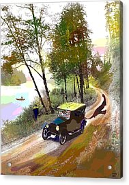 Gone Fishing Acrylic Print by Charles Shoup