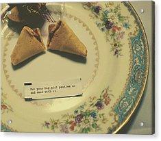 Acrylic Print featuring the photograph Good Advice by Robin Dickinson