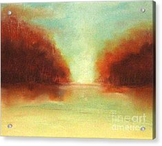 Good Earth   Haze Acrylic Print by Rosemarie Glennon Kliegman