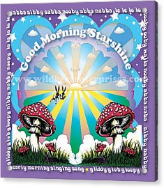 Good Morning Starshine Acrylic Print by Annie Wildbear