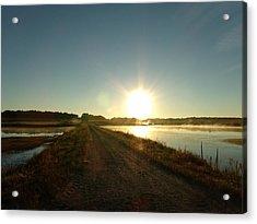 Good Morning Sunrise Road  Acrylic Print by Brian  Maloney