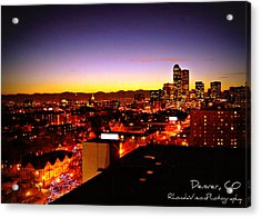 Good Night Mile High Acrylic Print by Rhonda DePalma
