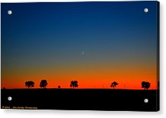 Good Night Moon Acrylic Print by Dan Crosby