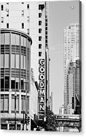 Goodman Theatre Center Chicago Acrylic Print by Christine Till