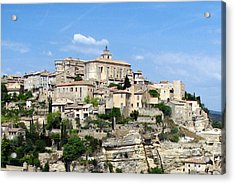 Acrylic Print featuring the photograph Gordes In Provence by Carla Parris