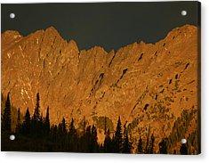 Gore Range Alpenglow Acrylic Print by Bob Berwyn