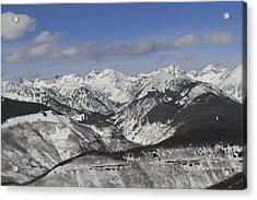 Gore Range, Dillon, Colorado, In Winter Acrylic Print by John Kieffer