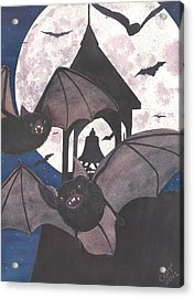Got Bats Acrylic Print by Catherine G McElroy