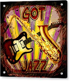 Got Jazz Abstract Acrylic Print by David G Paul