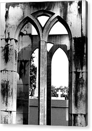 Acrylic Print featuring the photograph Gothic Cross by Cheri Randolph