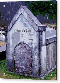 Gothic Rest In Peace Acrylic Print by Marian Hebert