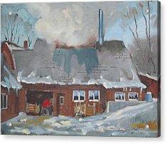 Gould's Sugar House Acrylic Print by Len Stomski