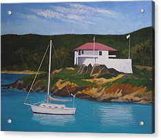 Government House At Cruz Bay Acrylic Print by Robert Rohrich