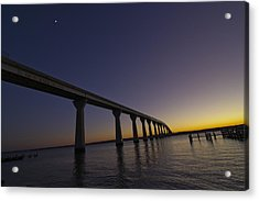 Acrylic Print featuring the photograph Governor Thomas Johnson Bridge by Kelly Reber