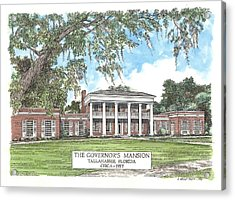 Governors Mansion Tallahassee Florida Acrylic Print