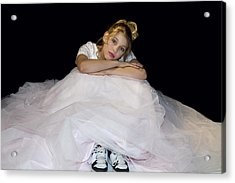 Gown And Sneakers Acrylic Print by Trudy Wilkerson