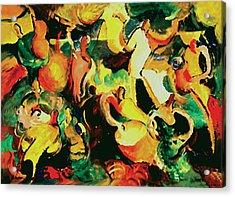 Gozando Acrylic Print by John Crespo Estrella
