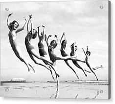 Graceful Line Of Beach Dancers Acrylic Print