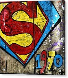 #grafetti #superman #1970 #paris Acrylic Print