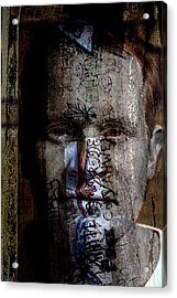 Graffiti Acrylic Print by Christopher Gaston