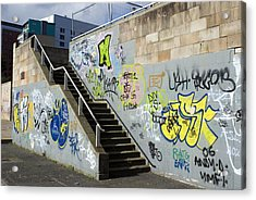 Graffiti Acrylic Print by Mark Williamson