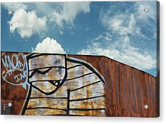 Graffiti Monster Acrylic Print by Nikki Marie Smith