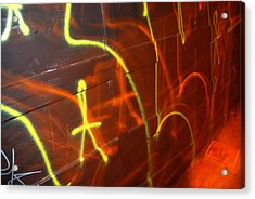 Graffiti On A Garage Door In San Acrylic Print by Raymond Gehman