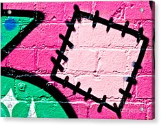 Graffiti Patch Closeup Acrylic Print