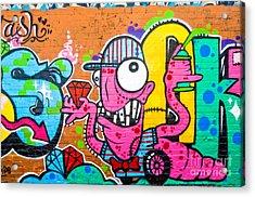 Graffiti Spray-worm Acrylic Print by Yurix Sardinelly