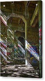 Acrylic Print featuring the photograph Graffiti Underground by Vicki DeVico