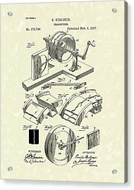 Gramophone 1887 Patent Art Acrylic Print by Prior Art Design