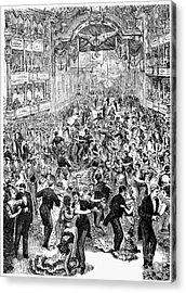 Grand Ball, New York, 1877 Acrylic Print by Granger