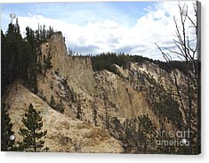 Acrylic Print featuring the photograph Grand Canyon Cliff In Yellowstone by Living Color Photography Lorraine Lynch