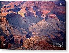 Grand Canyon Evening Interior Acrylic Print by Michael Kirsh
