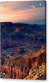 Grand Canyon Sunset Acrylic Print by C Thomas Willard